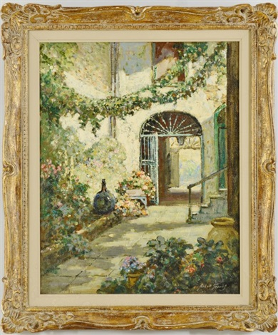 flowe filled courtyard by abbott fuller graves