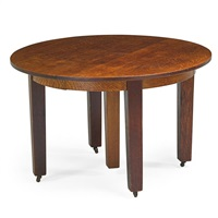five-leg dining table by gustav stickley