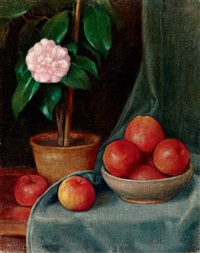 still-life with fruits by samu börtsök