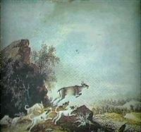 et kobbel hunde jager et radyr by johanne marie (mme. westengaard) fosie