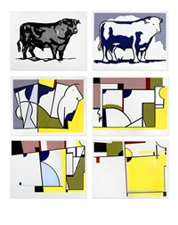 bull profile series (6 works) by roy lichtenstein