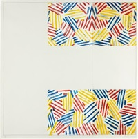 untitled #2 (after `untitled 1975'), from 6 lithographs (after 'untitled 1975') by jasper johns