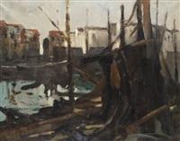 harbour scene by frédéric de smet