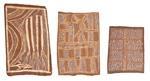 totem design; totem design; snake chasing caberlilly lizard (3 works) by groote eylandt