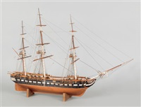 the u.s.s. constitution (old ironsides) (model) by alfred oxpsring