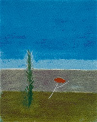 tree and poppy montecastelli by craigie aitchison