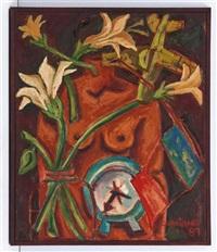 torso con avión y flores by georgina quintana