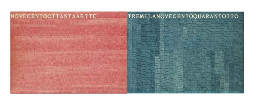 novecentoottantasette tremilanovecentoquarantotto (in 2 parts) by alighiero boetti