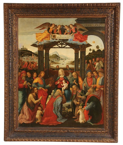 adoration of the magi by domenico ghirlandaio