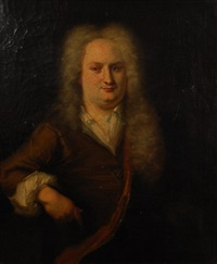 portrait de gentilhomme; portrait de dame de qualité (2 works) by cornelis troost