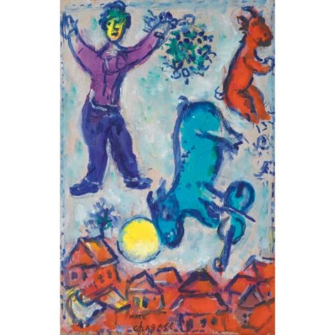le paysan sketch by marc chagall