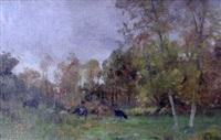 vaches dans le pré by eugène labitte
