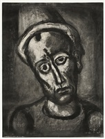 qui ne se grime pas (from miserere) by georges rouault