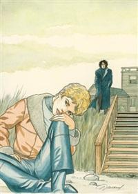 jessica blandy (cover for album blue harmonica) by renaud denauw