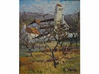 église de pavant en hiver by maurice lemaître