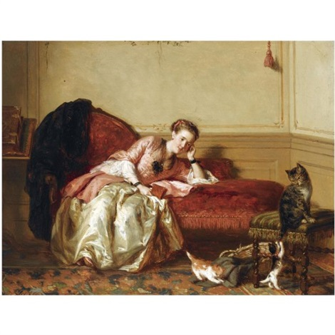 watching the kittens play by david joseph bles