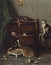 les chats dans une commode by e. leroy