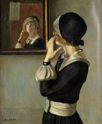 redhead's reflection by donald blagge barton