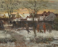 sunrise, frosty morning by richard eurich
