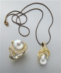 ring; pendant (2 works) by henry dunay