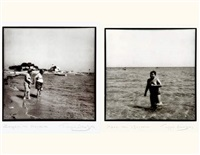 on the beach, grèce (2 works) by yiorgos depollas
