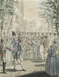 scène finale du déserteur, opéra de sedaine et monsigny by francois (marie isod.) queverdo