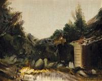 paesaggio by pietro annigoni