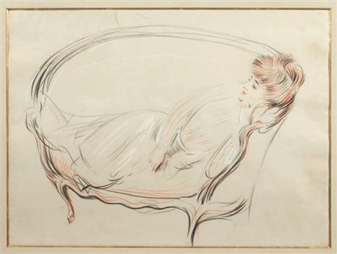 madame chéruit dans son sofa by paul césar helleu