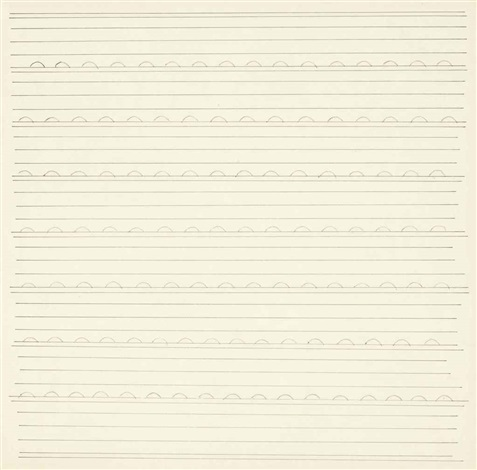untitled (#18) by agnes martin