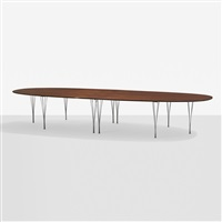 super ellipse table by piet hein, bruno mathsson and arne jacobsen