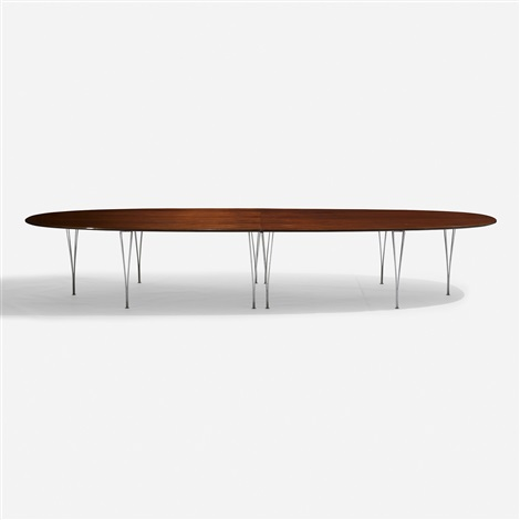 Super ellipse table by piet hein bruno mathsson and arne for Super u table exterieur