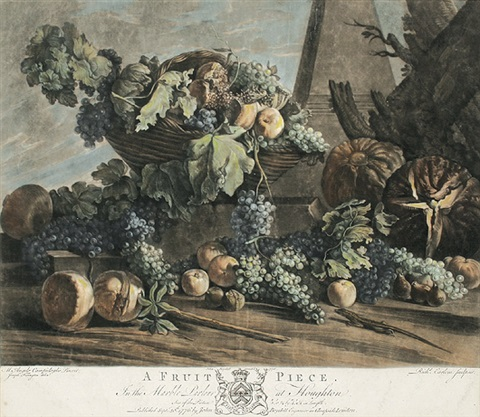a fruit piece after m a campidoglio by richard earlom