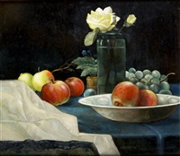 apples with yellow rose by jack cudworth