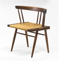 grass-seated chair by george nakashima