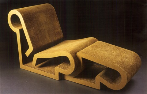 Easy Edges, Lounge Chair U0026amp; Ottoman (set Of 2) By Frank Gehry