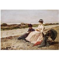 élégantes sur la plage by edouard gelhay