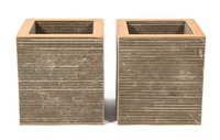 two frank gehry corrugated cardboard cubes by frank gehry