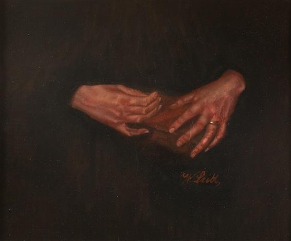 zwei frauenhände din buch haltend by wilhelm maria hubertus leibl