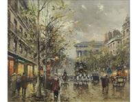 boulevard de la madeleine by antoine blanchard