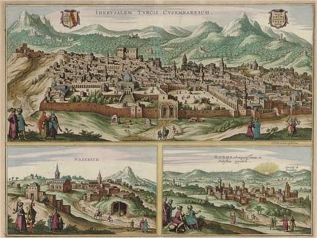 jherusalem turcis cusembareich nazareth and ramma by d olfert dapper