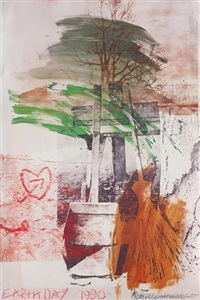 earth day poster by robert rauschenberg