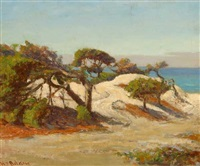 monterey coastal scene by william adam