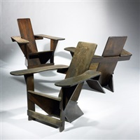 set of three westport chairs (designed by thomas lee) by harry c. bunnell