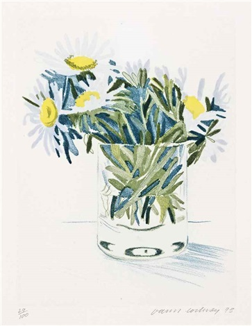 marguerites by david hockney
