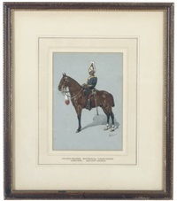a derbyshire imperial yeomanry officer, review order (+ 4 others; 5 works) by richard simkin