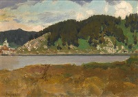 landscape with lake by appolinari mikhailovich vasnetsov