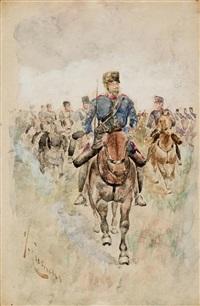 apunte de caballería by josep (josé) cusachs y cusachs