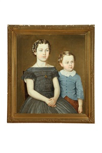 portrait of two children by aaron dean fletcher