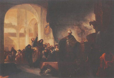 jeroboams sacrifice by adriaen gael the younger