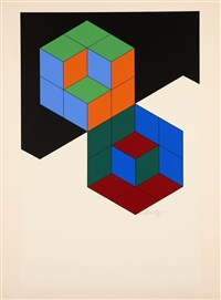 carres en relief by victor vasarely